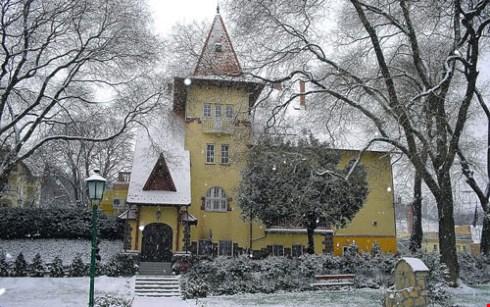 Lâu đài Fried vào mùa đông