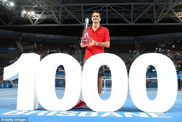 Federer đã bước vào ngôi đền của những huyền thoại 1.000