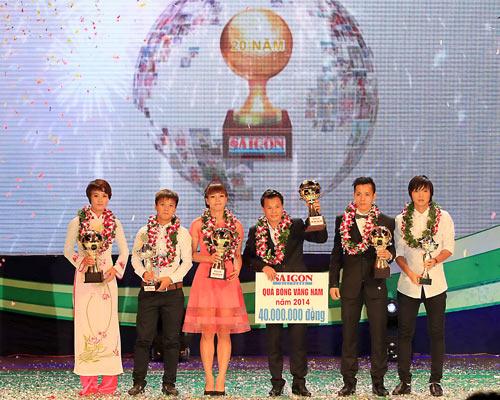 Đêm gala giải thưởng Quả bóng vàng Việt Nam năm 2014. Ảnh: Nguyễn Nhân