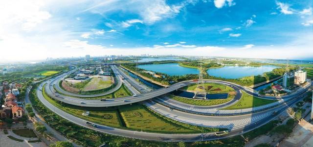 Công viên Yên Sở (bên phải), lá phổi xanh tại cửa ngõ phía Nam Hà Nội. (Ảnh: Trí Thức Trẻ)