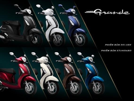 7 màu phong cách của Yamaha Grande. (Ảnh: Trí Thức Trẻ)