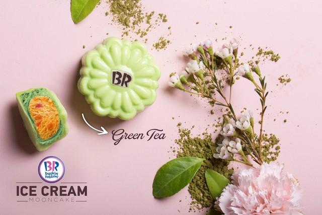 Điểm đặc biệt chỉ có ở kem Green Tea của Baskin Robbins là kem có chứa lá trà xanh li ti nguyên chất. (Ảnh: Trí Thức Trẻ)
