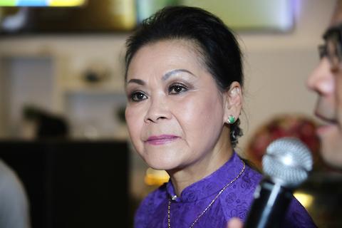 Nữ danh ca Khánh Ly.