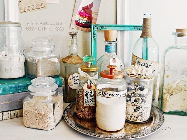 Tận dụng vỏ chai làm lọ đựng gia vị hoặc nguyên liệu chế biến món ăn.