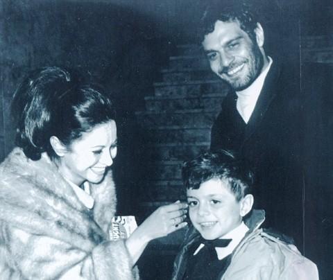Omar Sharif và vợ Faten Hamama cùng con trai Tareq.