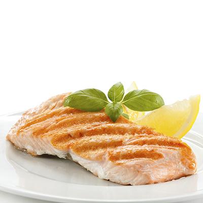 Món cá hồi nướng.