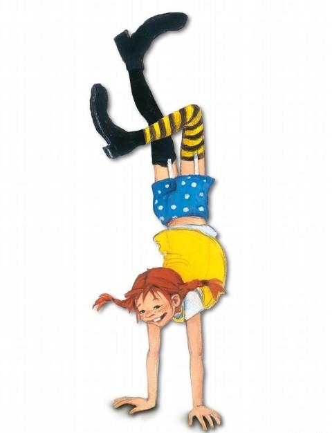 Hình ảnh Pippi Tất dài trong cuốn truyện của Astrid Lindgren.