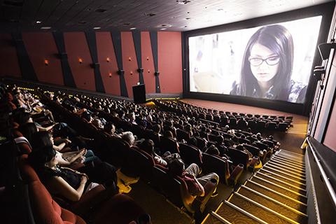 Kín khán giả tại buổi chiếu Âm mưu giày gót nhọn ở San Jose, Mỹ.