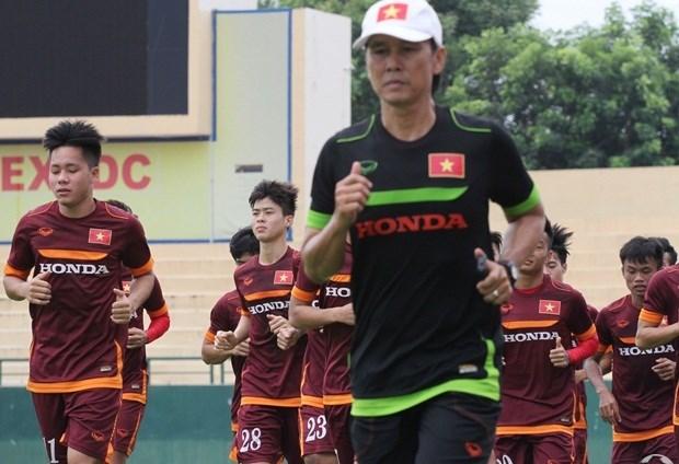 Các cầu thủ U23 Việt Nam trong buổi tập sáng 21.12