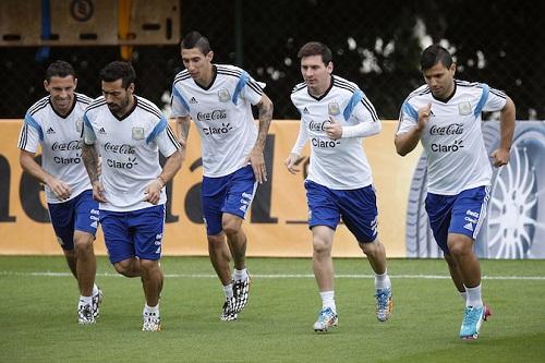 Lionel Messi đang tập trung cùng đội tuyển Argentina để chuẩn bị cho Copa America 2015