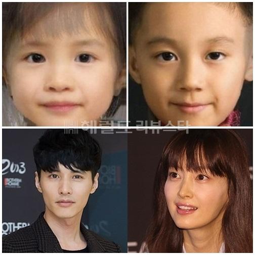 Một số cư dân mạng đã dùng tới phần mềm ghép ảnh để có được hình dung cụ thể hơn về diện mạo những đứa trẻ thừa hưởng nhan sắc của cả Won Bin và Lee Na Young (Ảnh: Herald Review Star)