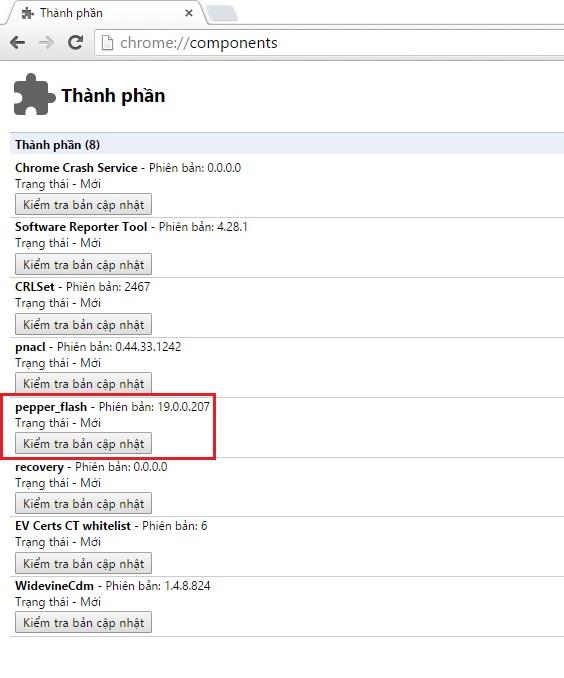 Cập nhật Adobe Flash Player