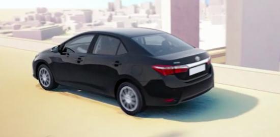 Mẫu xe có thiết kế bên ngoài rất giống với chiếc sedan Corolla dành cho thị trường Châu Âu