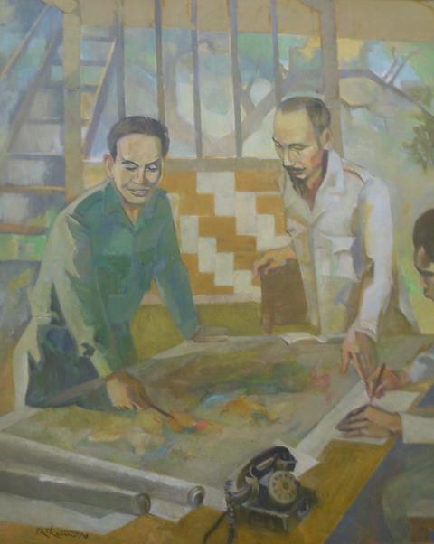 Người chỉ huy tối cao, sơn dầu của Nguyễn Thế Hữu.
