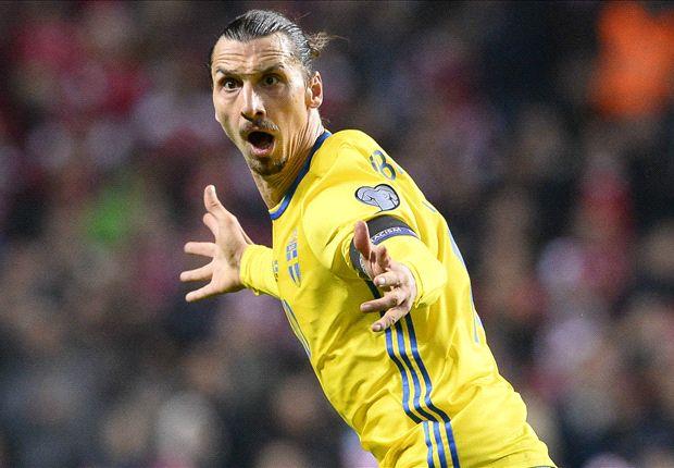 Ibra đã ghi 3 bàn thắng vào lưới Đan Mạch sau 2 lượt trận