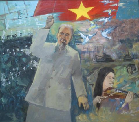 Bản giao hưởng hòa bình của Nguyễn Hải Nghiêm.