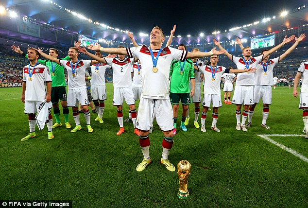 Bastian Schweinsteiger giành chức vô địch thế giới World Cup 2014 cùng ĐT Đức