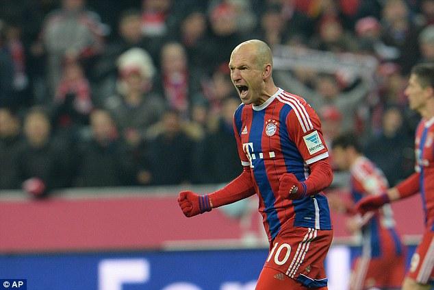 Arjen Robben mở tỷ số cho Bayern Munich  ở phút 67