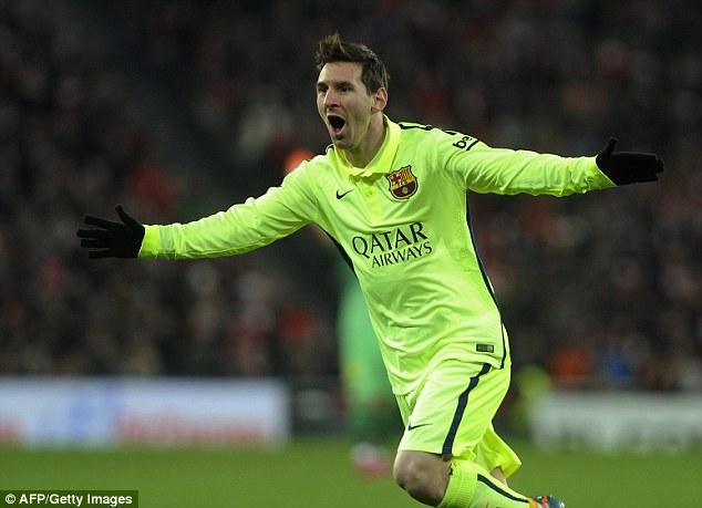 Lionel Messi ghi dấu ấn trong cả 5 bàn thắng của Barcelona