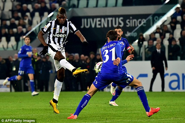 Paul Pogba ghi bàn thắng duy nhất cho Juventus ở phút 82