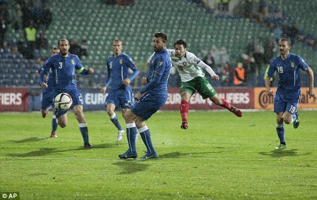 Italy bị Bulgaria cầm hòa 2-2