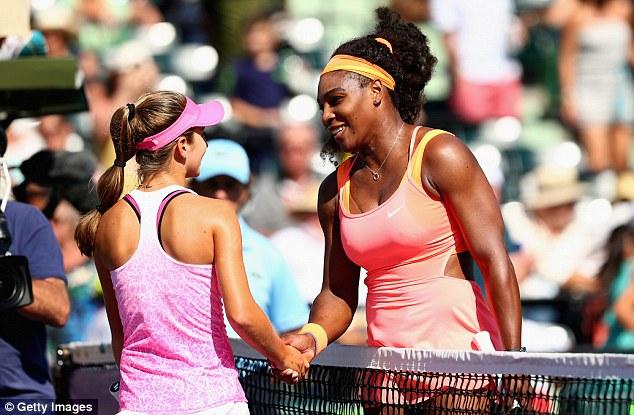 Serena (phải) đã nhanh chóng hạ đo ván sao mai CICI Bellis.