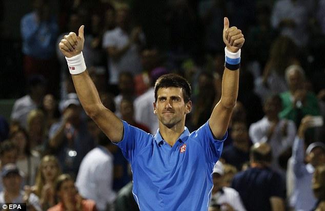 Novak Djokovic có cơ hội lần thứ 5 lên ngôi vô địch tại Maimi Master