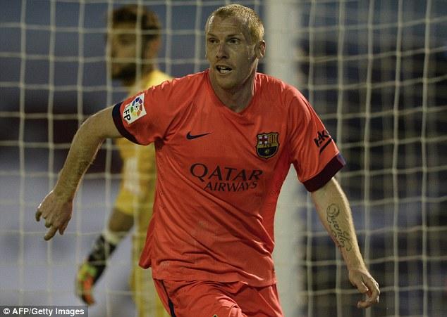 Trung vệ Jeremy Mathieu tỏa sáng mang về chiến thắng tối thiểu cho  Barcelona