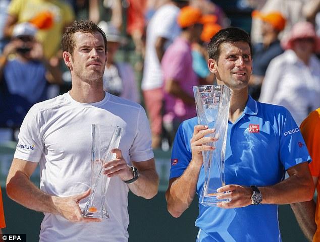 Trước khi đám cưới diễn ra, Murray đã thất bại trước Novak Djokovic tại trận chung kết Miami Open.