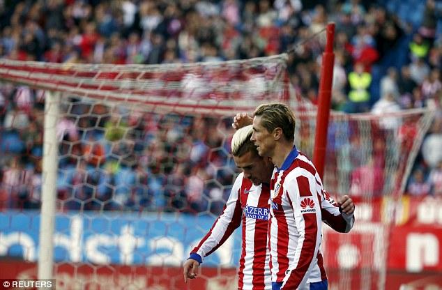 Cặp tiền đạo Antoine Griezmann và Fernando Torres (Atletico Madrid)