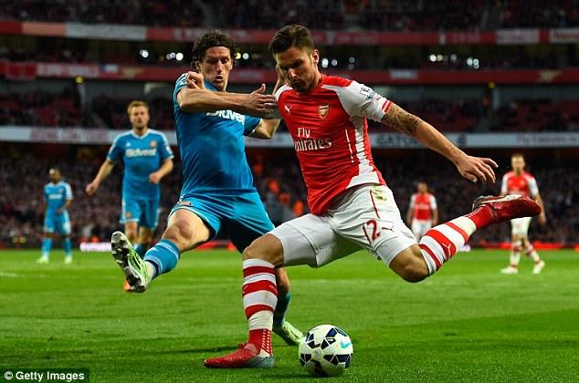 Với Olivier Giroud , Arsenal sẽ không bao giờ vô địch Premier League?