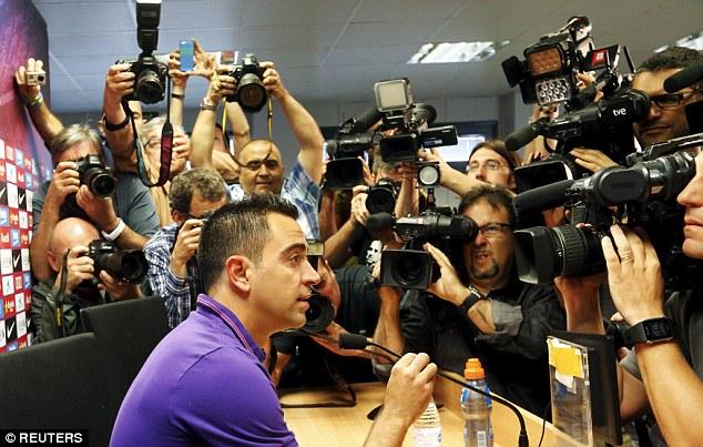 Xavi chính thức nói lời chia tay với Barcelona sau mùa giải năm nay