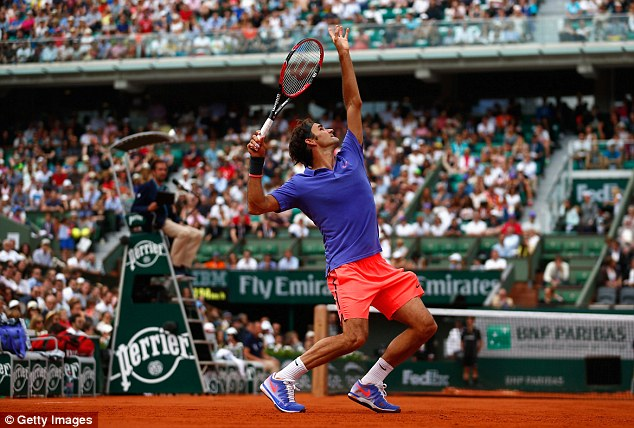Roger Federer có 8 cú aces trong chiến thắng trước Alejandro Falla