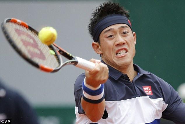 Kei Nishikori đã giành quyền vào tứ kết Pháp mở rộng 2015