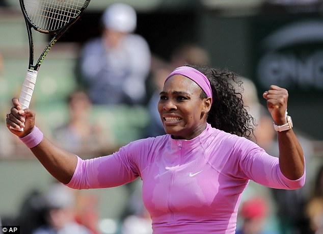 Serena Williams đã phải rất vất vả mới có thể vào tứ kết Pháp mở rộng 2015
