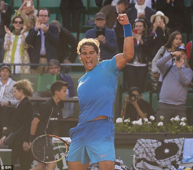 Rafael Nadal đã ghi tên mình vào vòng tứ kết Pháp mở rộng 2015