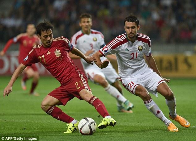 David Silva ghi bàn thắng duy nhất giúp Tây Ban Nha đánh bại Belarus