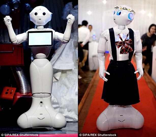 Phù rể và phù dâu đều là robot