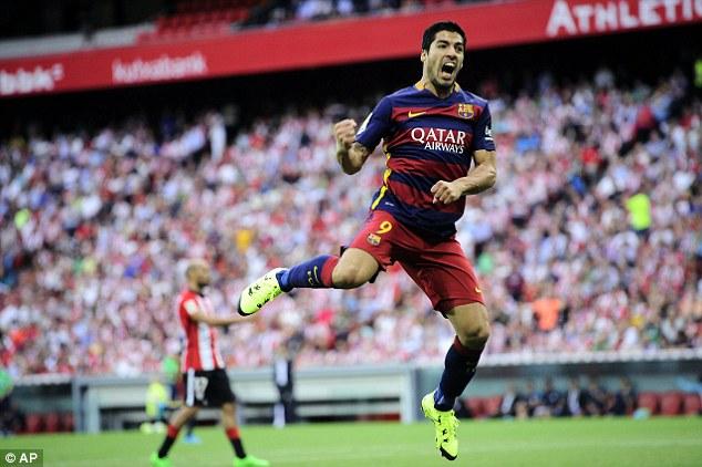 Luis Suarez  ghi bàn thắng duy nhất giúp Barcelona có chiến thắng trước Athletic Bilbao