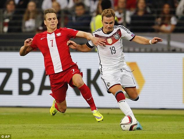 Mario Goetze lập 1 cú đúp trong chiến thắng 3-1 của đội tuyển Đức