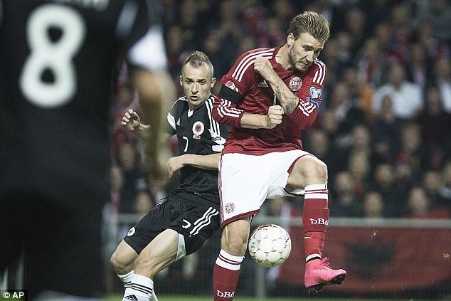 Đan Mạch bị Albania 0-0