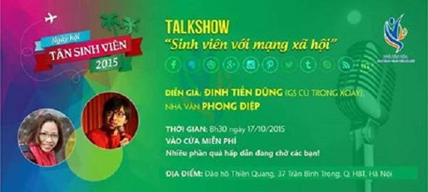 Buổi Talk show có sự xuất hiện của diễn giả Đinh Tiến Dũng (GS Cù Trọng Xoay) hứa hẹn mang lại nhiều điều thú vị