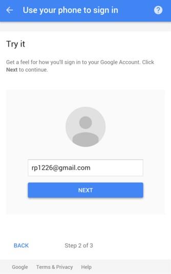 Nhập địa chỉ email để đăng nhập vào tài khoản Google