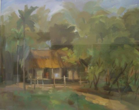 Quê Bác, tranh của Phạm Kim Bình.