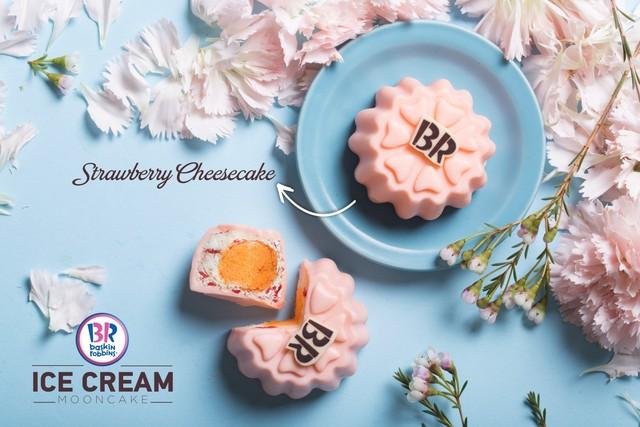 Strawberry Cheesecake là mùi kem được lấy cảm hứng từ món bánh phomai tráng miệng được yêu thích. (Ảnh: Trí Thức Trẻ)