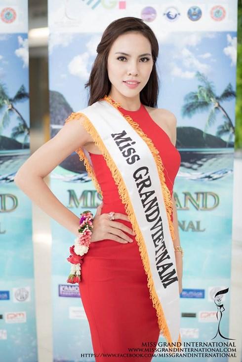 Lệ Quyên - đại diện Việt Nam đã không lọt top 20 cuộc thiMiss Grand International được tổ chức tại Thái Lan.