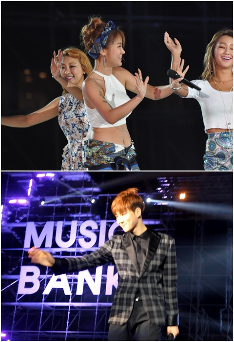 Sao Hàn nán lại vẫy chào người hâm mộ khi chương trình kết thúc. Ảnh: Thục Anh, Mi Ly.