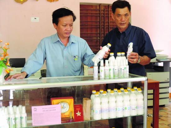 HTXNN Ngọc An đã xây dựng thành công thương hiệu sản phẩm dầu dừa tinh khiết.