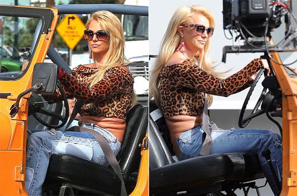 Trong buổi quay MV ca nhạc Pretty Girls đầu tháng trước, công chúa nhạc pop Britney Spears để lộ vòng 2 nhăn nhúm, chia thành nhiều ngấn mỡ ngồn ngộn. Giọng ca Baby One More Time không thể lấy lại vóc dáng săn chắc kể từ sau khi sinh hai quý tử.