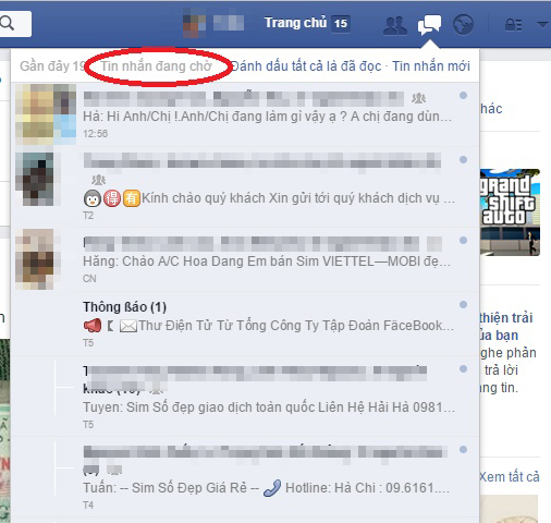 Facebook bổ sung mục Message Request (Tin nhắn đang chờ)